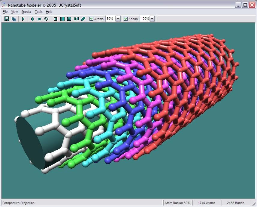کرک نرم افزار nanotube modeler